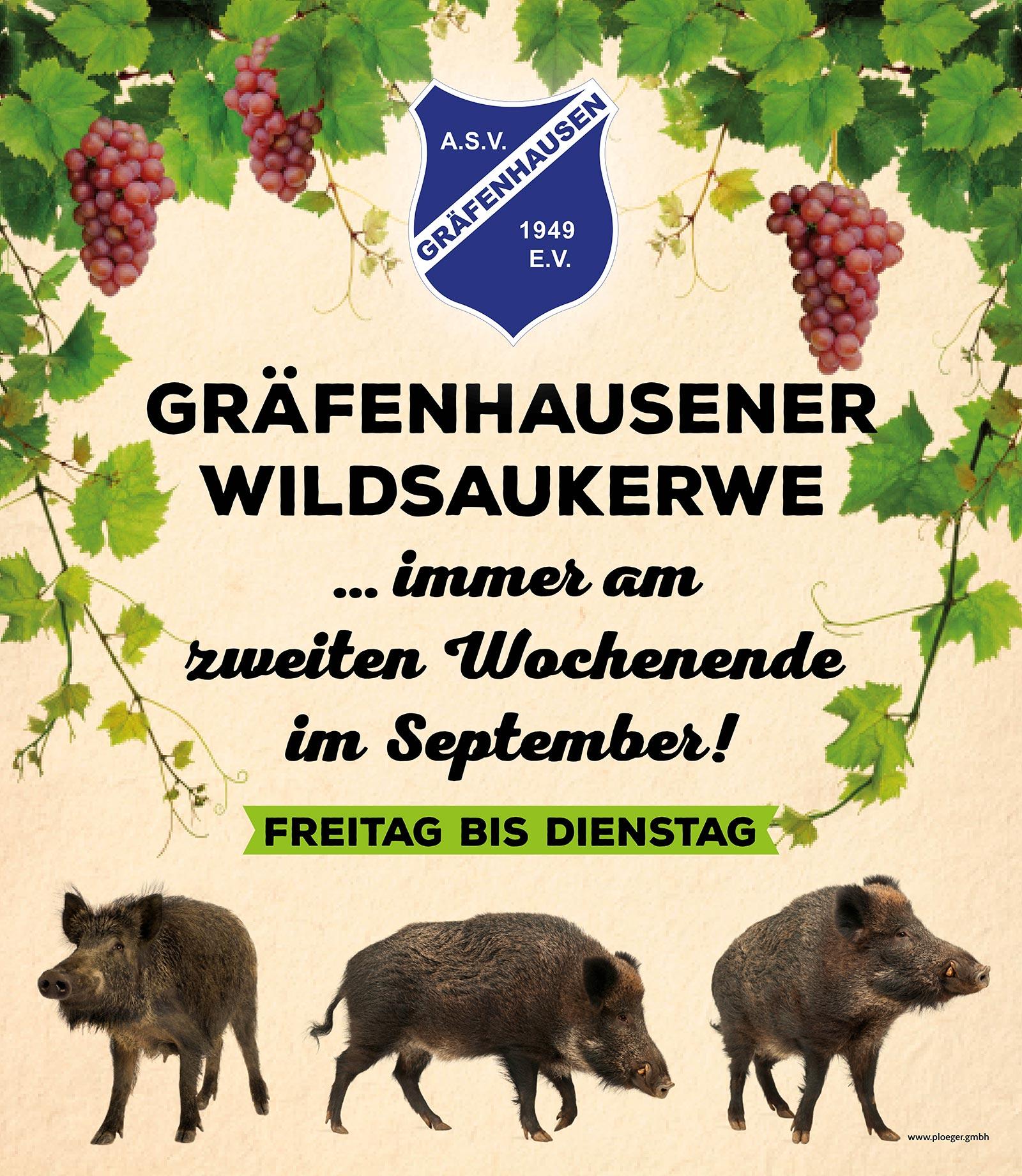 Gräfenhausener Wildsaukerwe Werbung auf Meshplane